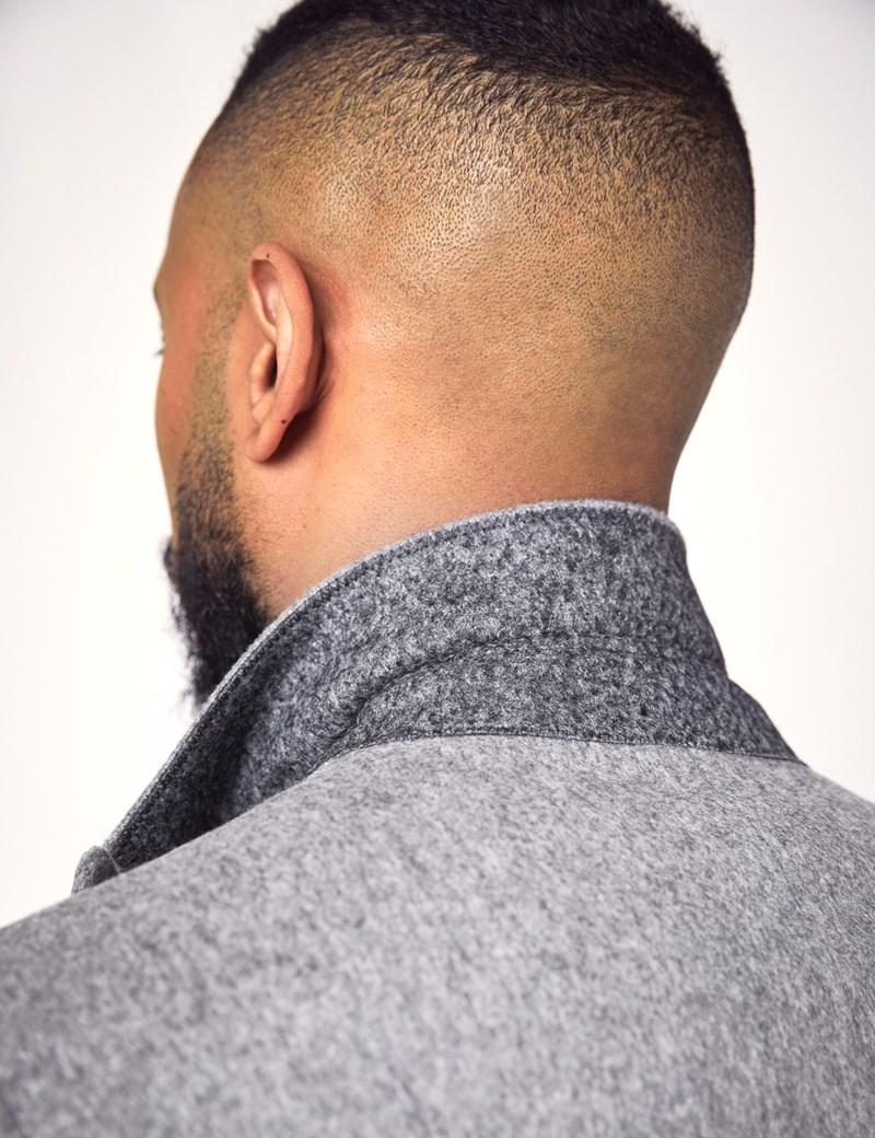 Men's Grey Italian Wool Coat - 1913 Collection