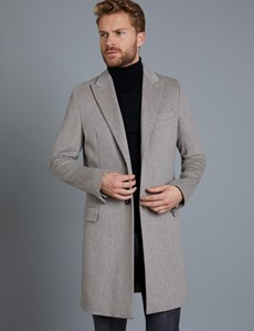 Men's Italian Stone Loro Piana Wool Coat