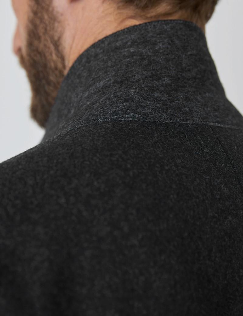 Men's Charcoal Italian Wool Blend Overcoat – 1913 Collection