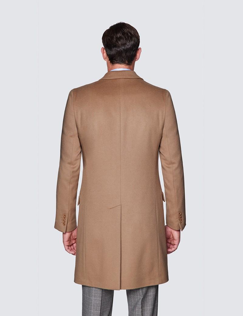 Men's Camel Italian Cashmere Blend Overcoat – 1913 Collection
