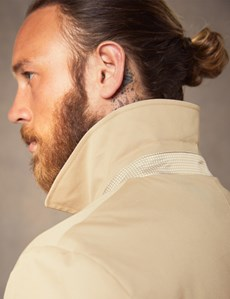 Men's Stone Rain Mac With Removable Lining