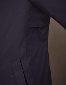 Men's Dark Navy Rain Mac With Removable Lining