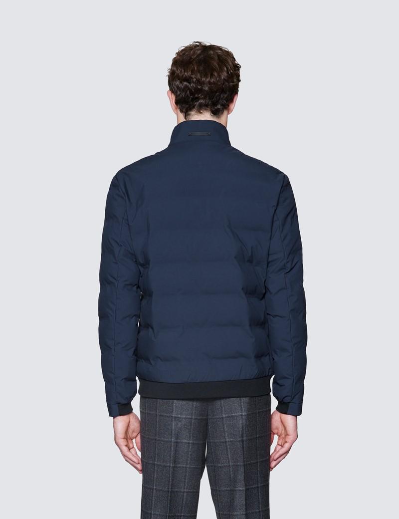 Men's Navy Casual Quilted Coat