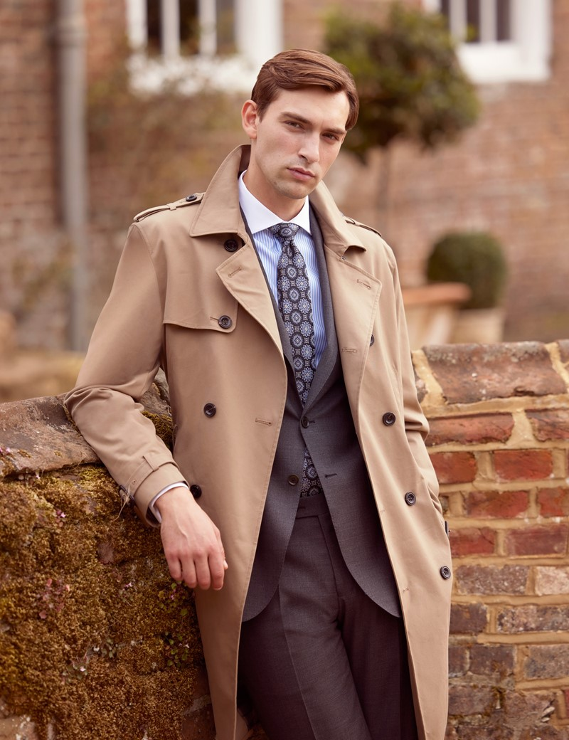 Men's Khaki Trench Coat