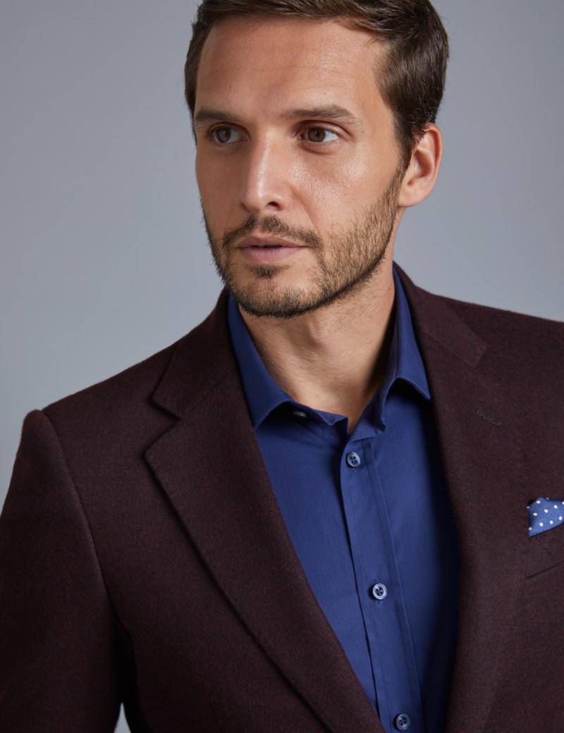 Men's Wine Knitted Blazer