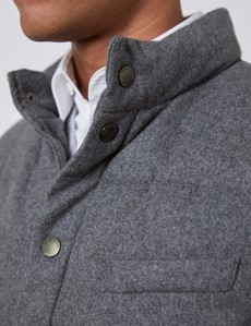 Men's Grey Wool Blend Gilet