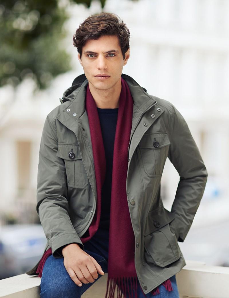 Men's Green Field Jacket