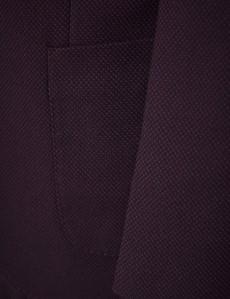 Sakko – Smart Casual –Baumwollmix– Pfauenaugenmuster burgunder