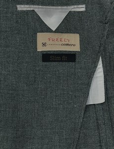 Men's Green Italian Wool & Linen Jacket - 1913 Collection