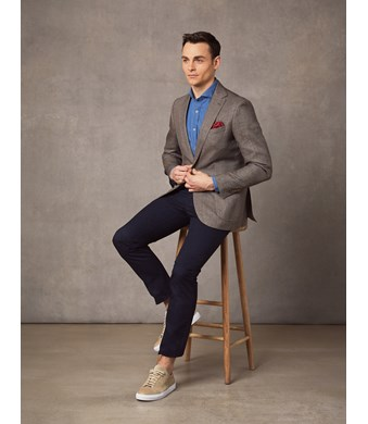 Men's Brown Italian Wool & Linen Jacket - 1913 Collection