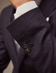 Men's Grape Purple Italian Wool Jacket - 1913 Collection