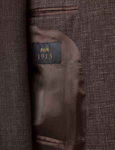 Sakko - 1913 Kollektion - Leinen-Wolle Mix - Slim Fit - Braun