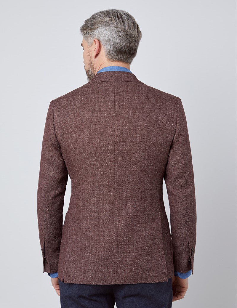 Men's Red Italian Wool Jacket - 1913 Collection