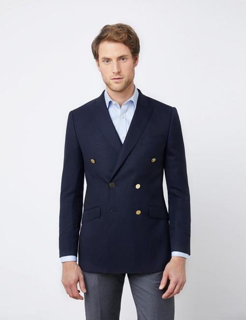 Men's Double Breasted Navy Blazer