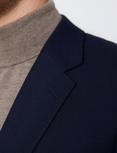 Men's Classic Fit Wool Navy Blazer