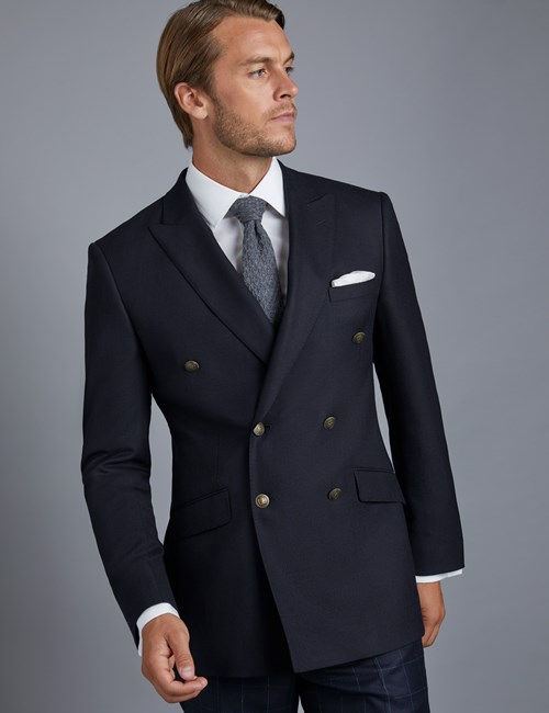 Men's Double Breasted Navy Blazer