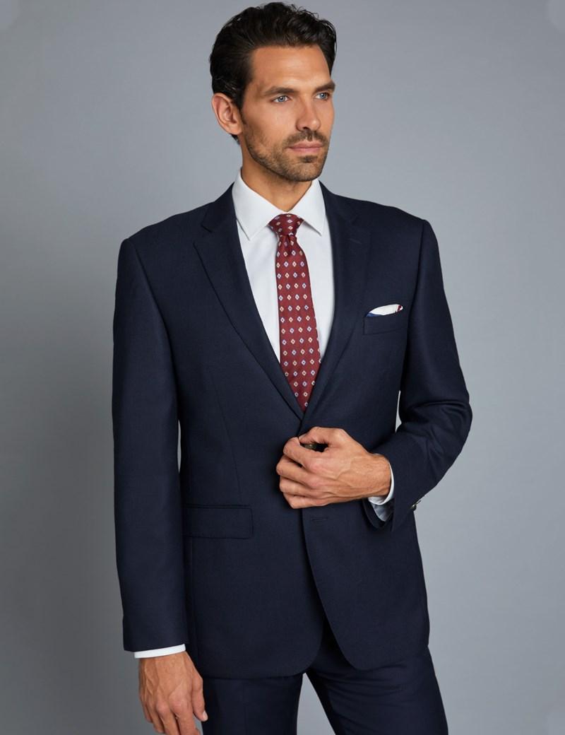 Elegantes Sakko – Classic Fit – Schurwolle – Marineblau