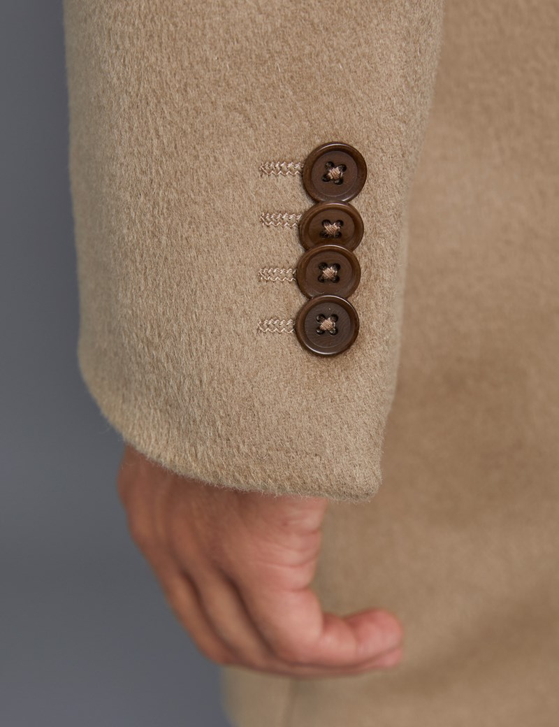 Men's Camel Wool Overcoat