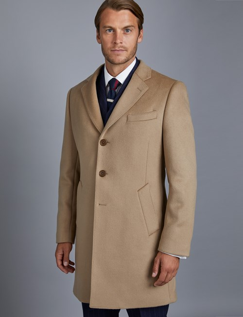Men's Camel Wool Overcoat