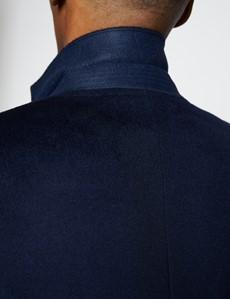 Men's Navy Wool Overcoat