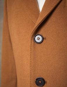 Men's Tan Wool Overcoat