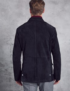 Men's Navy Suede Jacket