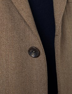 Herrenmantel – Covert Coat – Schurwolle – Camel