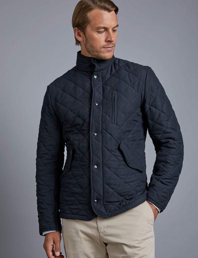 Men's Grey Piqué Wool Blazer