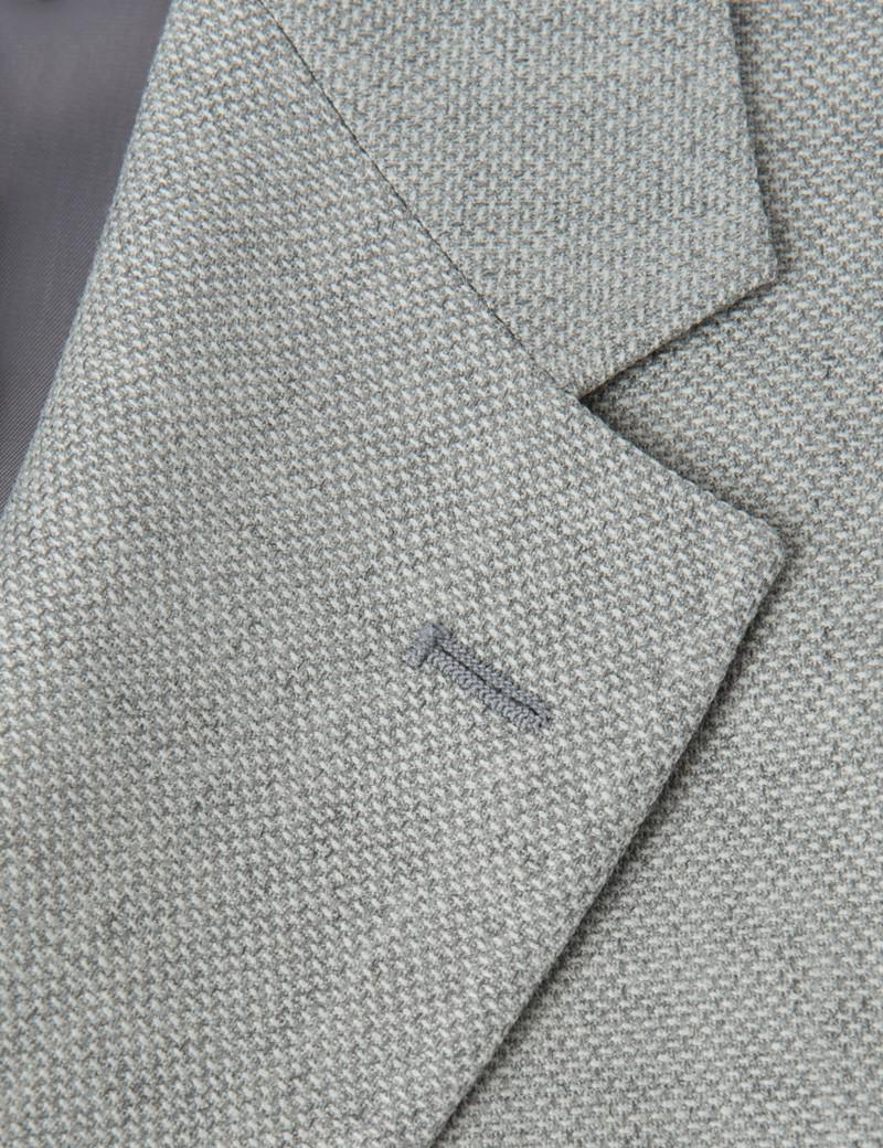 Men's Grey Piqué Wool Blazer - Mark Francis Collection