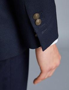 Elegantes Sakko – Slim Fit – 100S Schurwolle – Marineblau