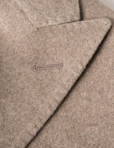Men's Wool Cashmere Taupe Double Breasted Coat