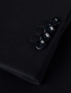 Men's Wool Cashmere Navy Double Breasted Coat