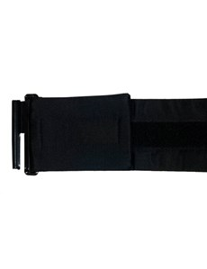 100% Silk Plain Black Cummerbund