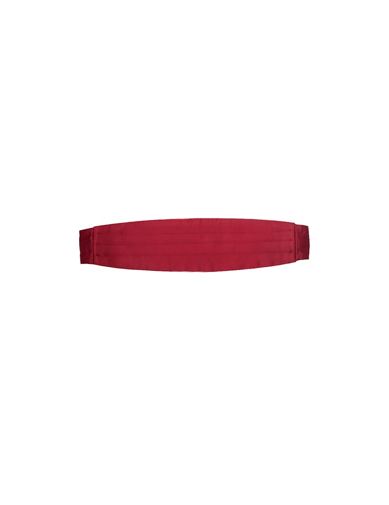 100% Silk Burgundy Plain Cummerbund