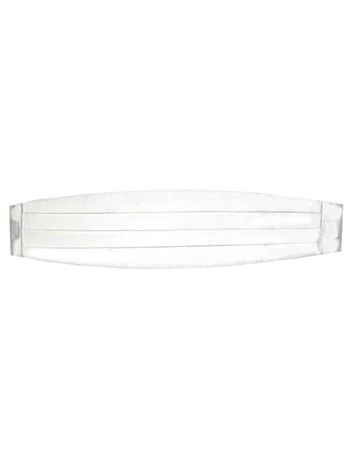 Luxuriöser Kummerbund aus Seide – weiß