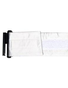 100% Silk Plain White Cummerbund