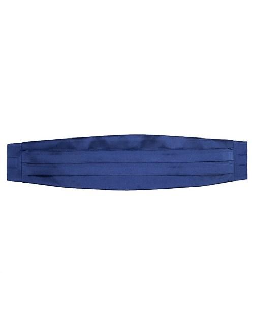 Luxuriöser Kummerbund – reine Seide – blau