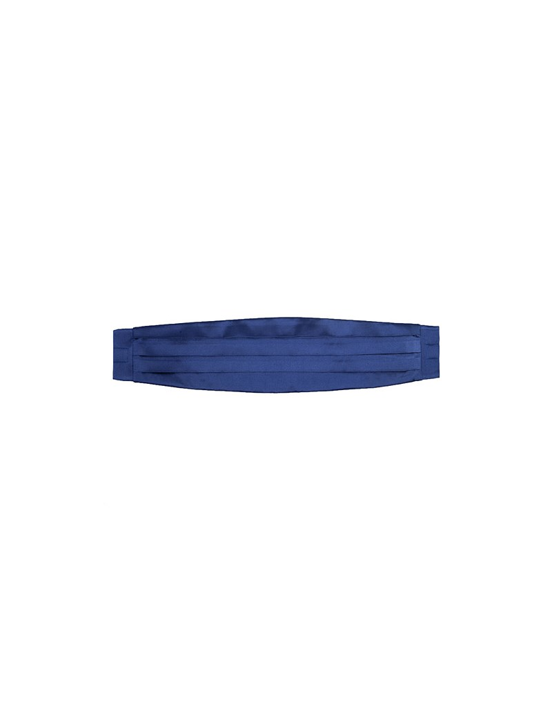 100% Silk Midnight Blue Plain Cummerbund