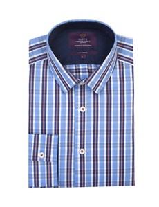 Curtis Blue & Red Multi Plaid Extra Slim Fit Men's Shirt  - Single Cuff