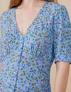 Women's Fayre Blue Ditsy Print Dress