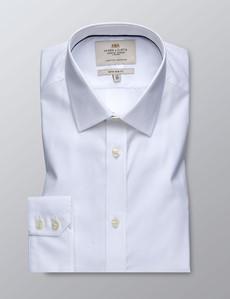 Businesshemd – Extra Slim Fit – Kentkragen – Popeline weiß