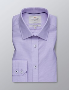 Men's Business Lilac Dobby Extra Slim Fit Shirt - Single Cuff - Non Iron
