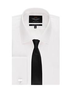Men's White Slim Fit Evening Shirt
