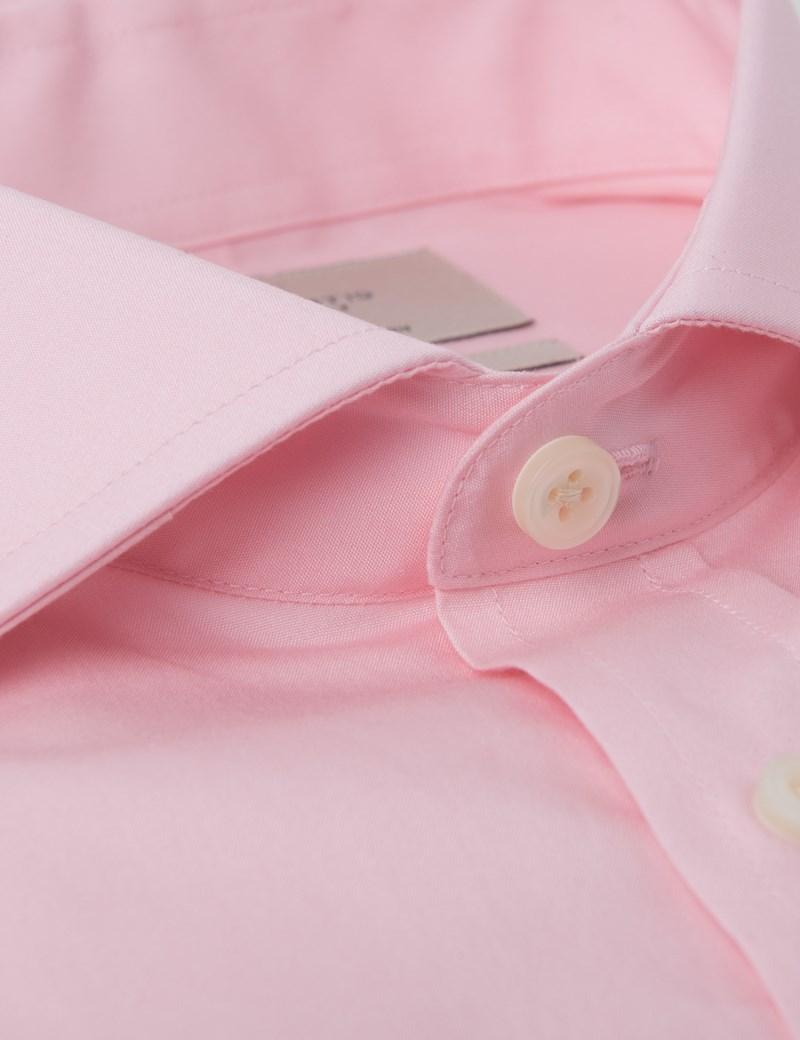 Men's Dress Mid Pink Extra Slim Fit Shirt - Windsor Collar- Single Cuff - Easy Iron