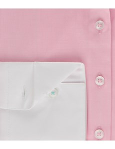 Women's Lt Pink Fitted Executive Shirt With Back Yoke - 2 ply 100s cotton