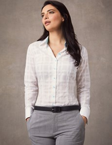 Women's White Fitted Shirt – Double Cuff