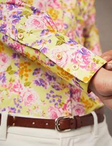 Bluse – Slim Fit – Baumwollstretch – English Rose