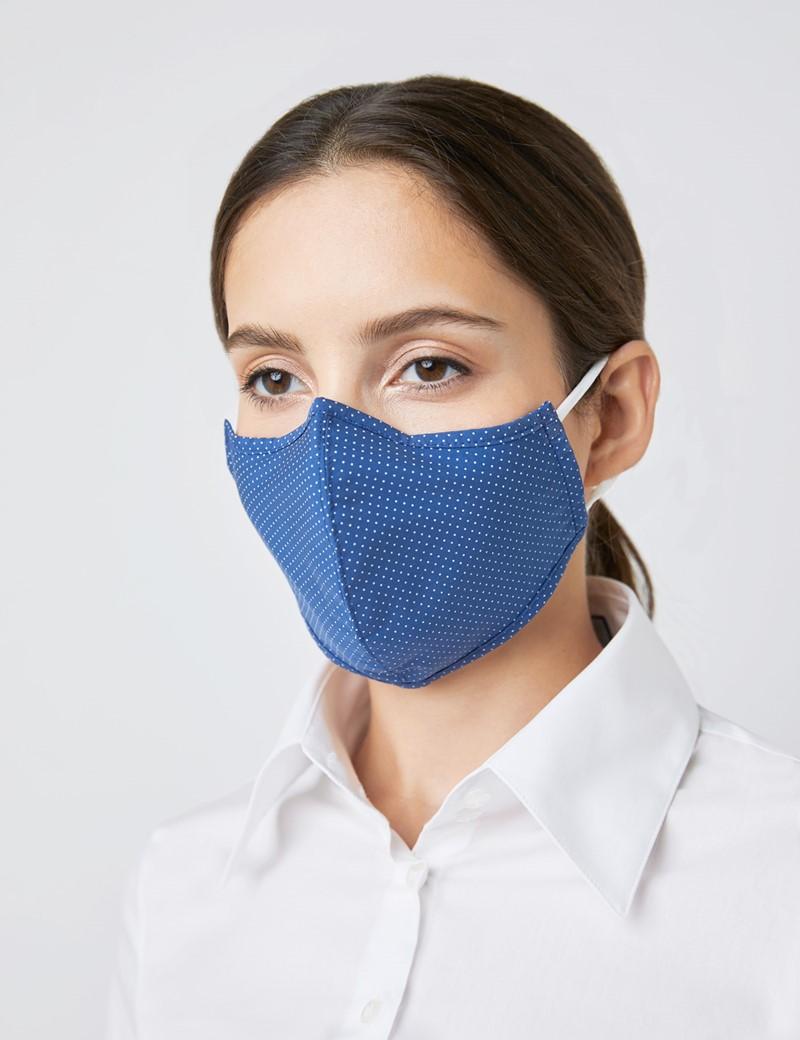 Spot Navy Face Mask - Cotton