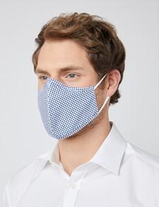 White & Blue Spots Face Mask - Cotton