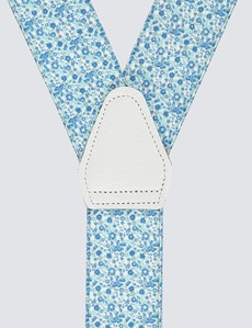 Men's Quality Blue Floral Braces
